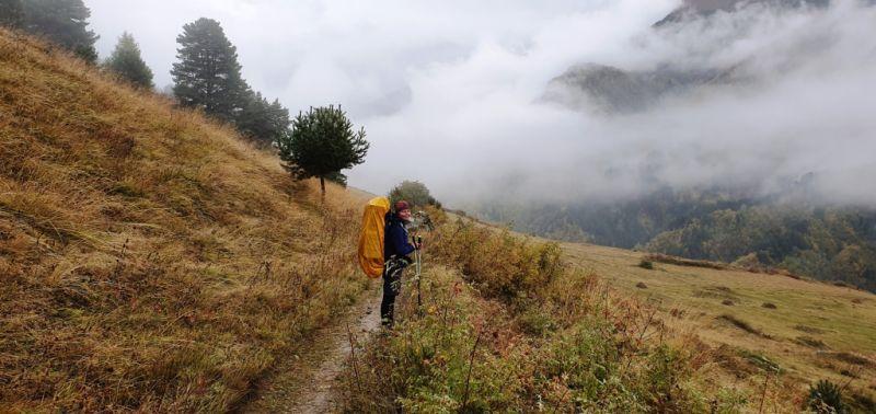 Поход по Сванетии с рюкзаком осенью
