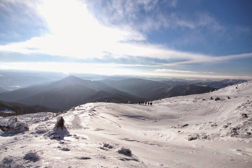 Снежно-ледовое обучение в Карпатах