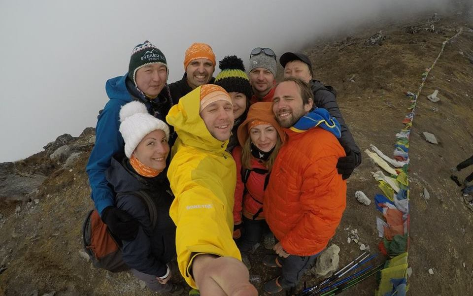 Группа Александра Павлова в горах