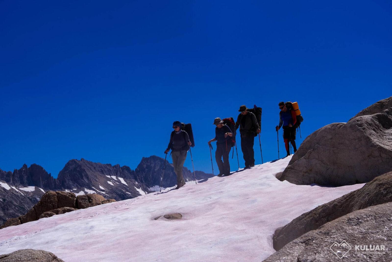 Группа Кулуара в горах Норвегии