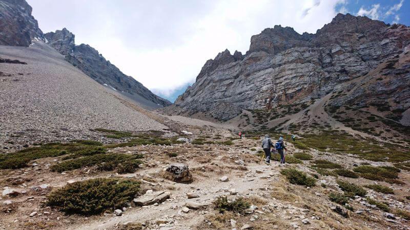Переход в верхний лагерь Торонг Ла