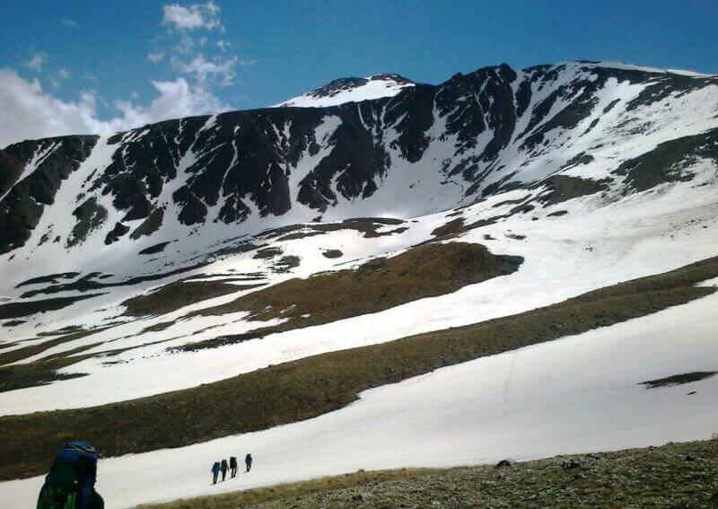 Снежные склоны Кавказа