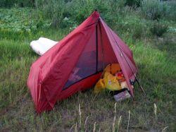 бескаркасная палатка для похода