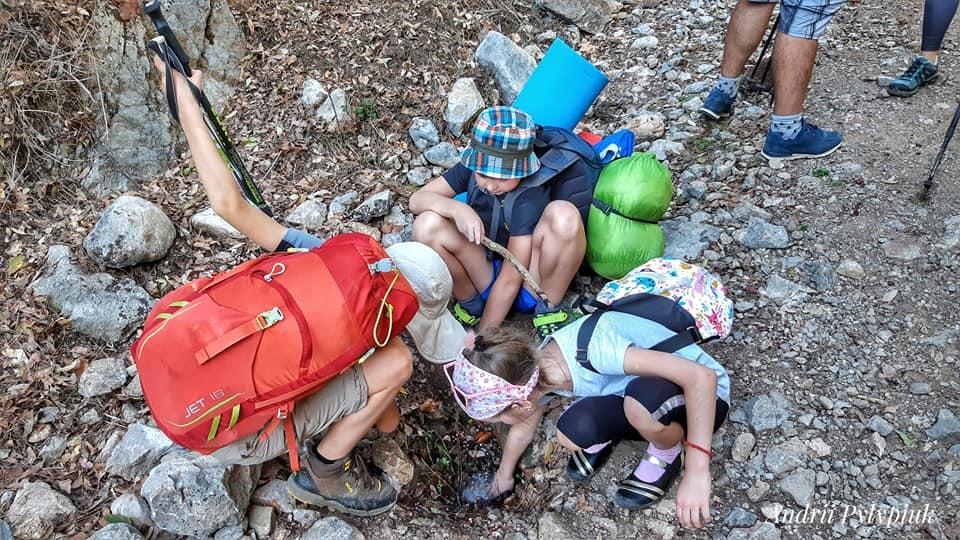 Детский поход по Турции