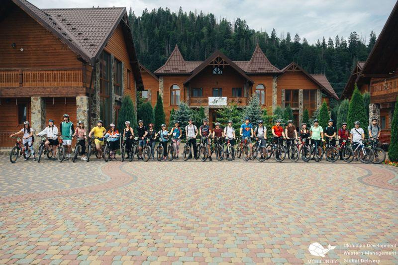 Корпоративный велопоход в Карпатах для компании Mobilunity