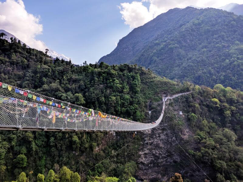 Навесные мосты в Непале