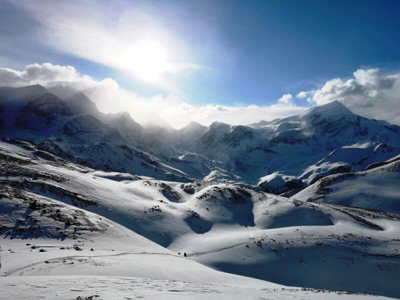 Снежные вершины Гималаев