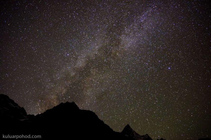 Звездное небо в Гималаях