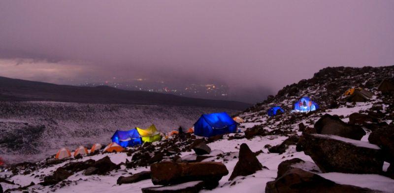 Ночь в кемпинге на пути до Килиманджаро