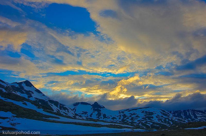 закат в норвегии