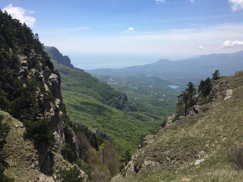 Вид с тропы Демерджи