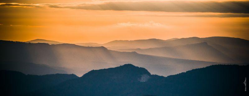 Закат в Карпатах