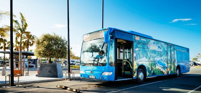 Автобус из аэропорта Пафоса в город