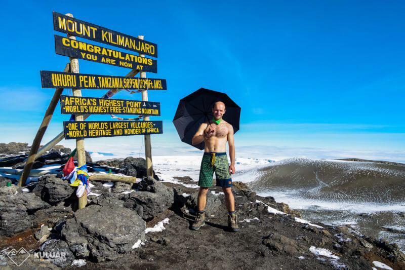 Вершина Килиманджаро, декабрь 2017 года