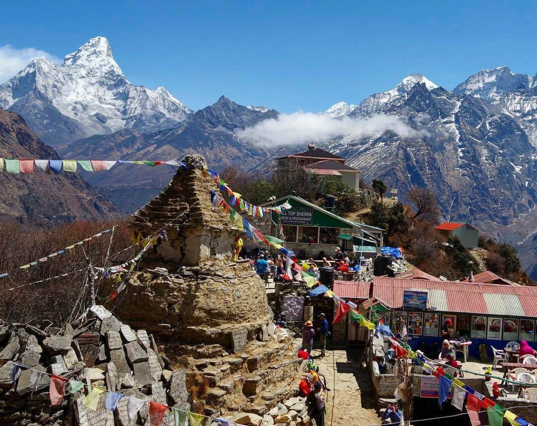 Трек к Эвересту - горная деревня
