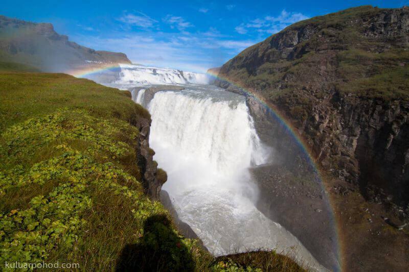 водопад Гюдльфосс - Золотой водопад