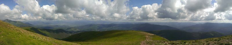 Панорама . Вид с Хребта