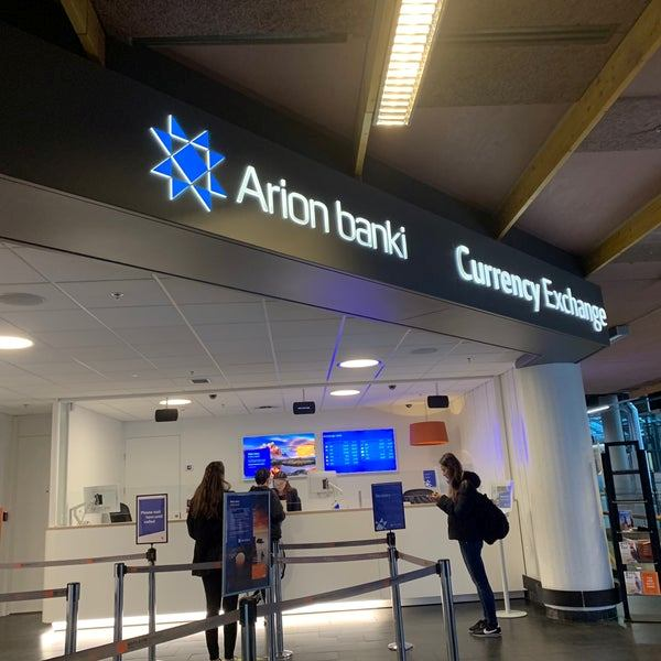 Обмін валюти в аеропорту Рейкьявіка