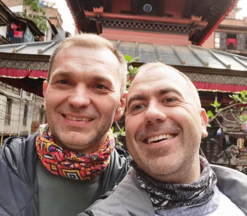 С другом Вадимом