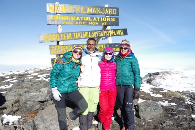 Пуховки для восхождения на Килиманджаро