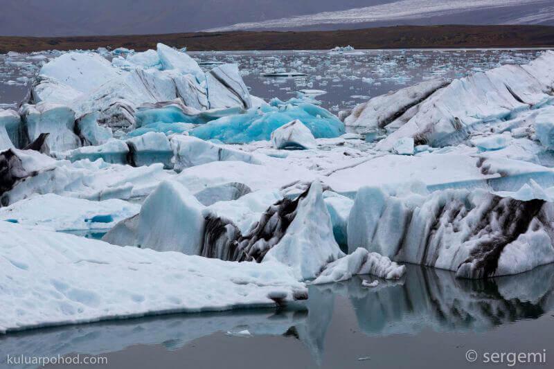 Йокульсарлон - ледниковая лагуна в Исландии