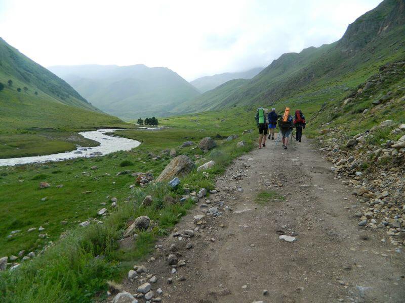 Поход по Кавказу с рюкзаками