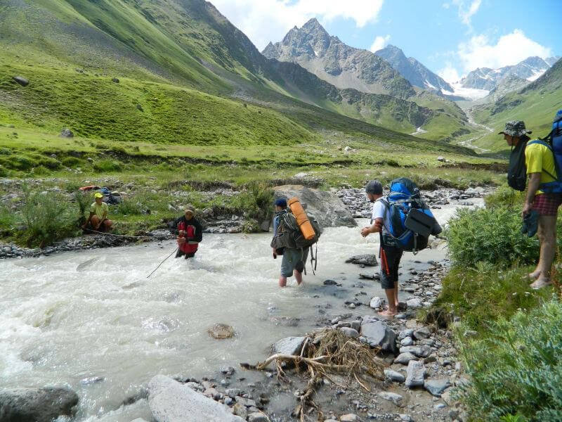 Переход горной реки