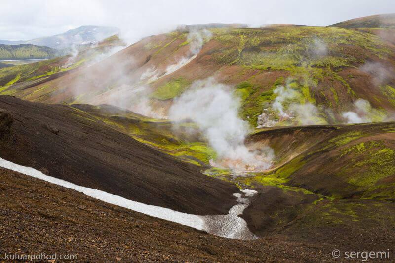 дымящиеся горы Исландии