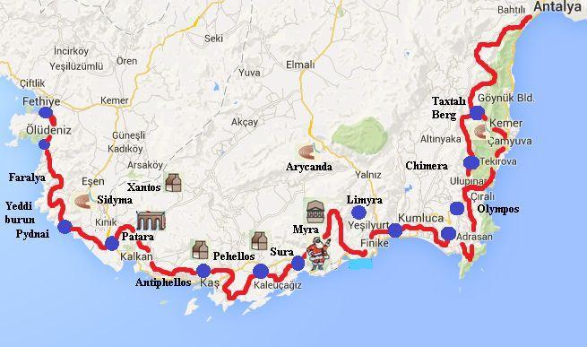 Три маршрута Ликийской тропы