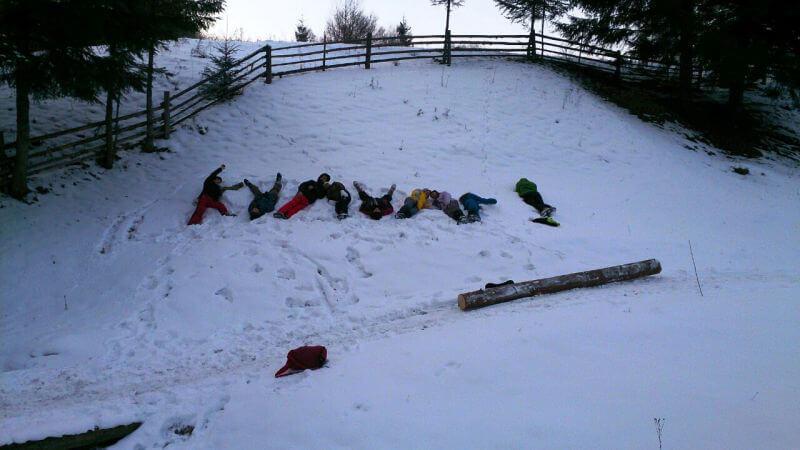 Кулуар в снегу