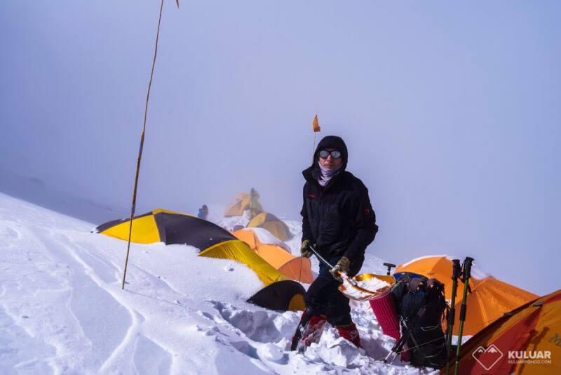 Палатка Димы и Вовы в Л3