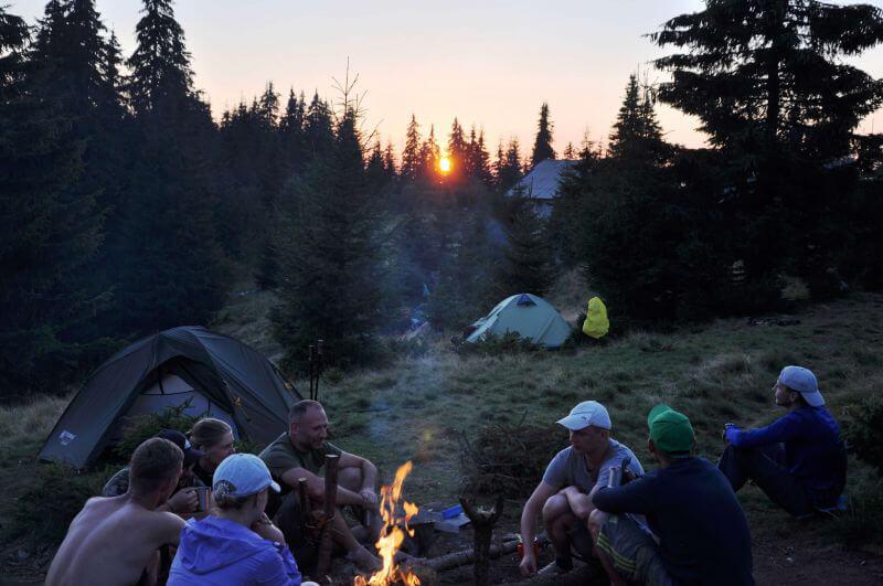 Наша перша ночівля в горах