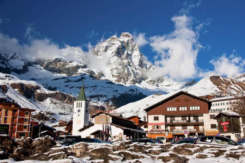 Червиния - горный курорт в Италии