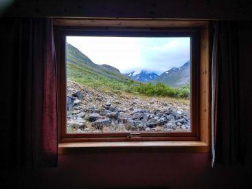 Картинный вид из окна приюта