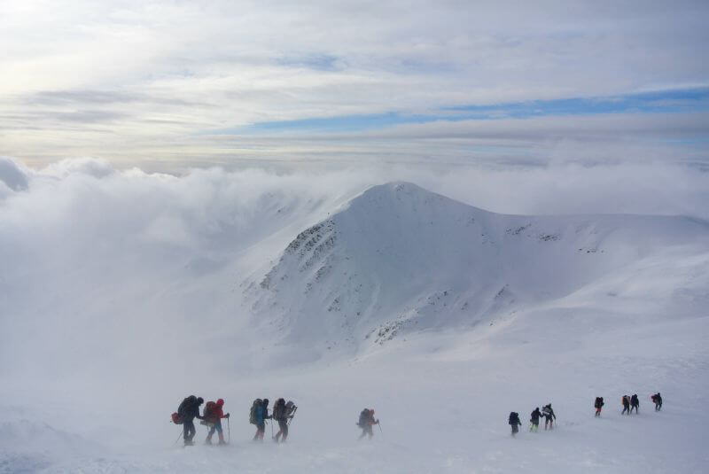 Поход по Черногорскому хребту зимой
