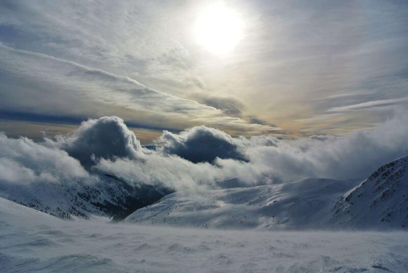 Пейзажи зимних Карпат