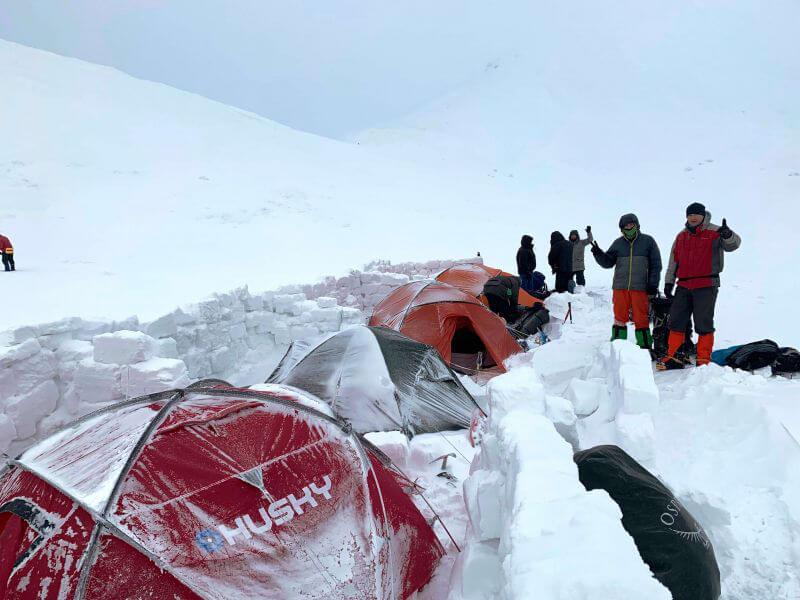 Ночевка в палатках зимой