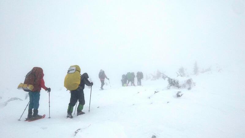Поход по Карпатам зимой с палатками