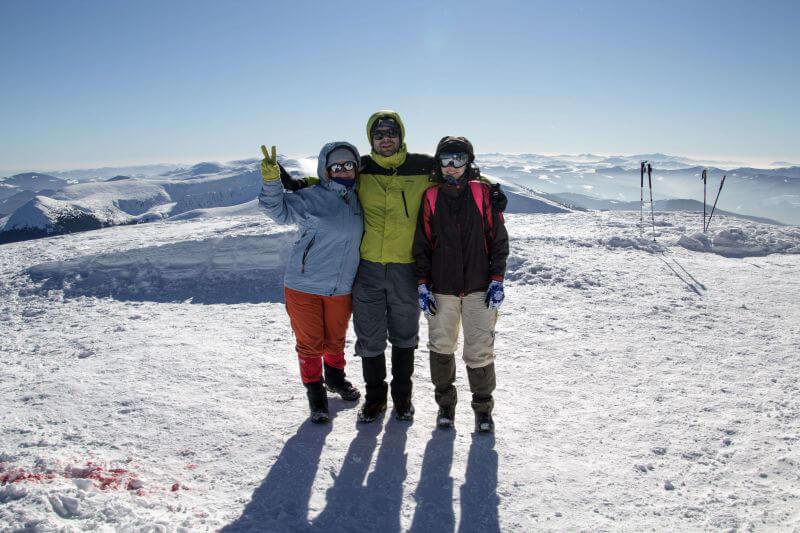 Восхождение на Говерлу и Петрос зимой