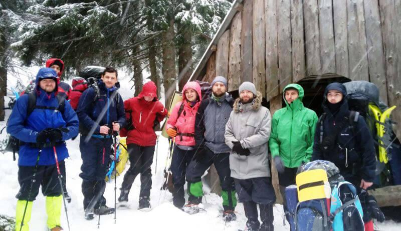 Група для походу в Карпати зимою