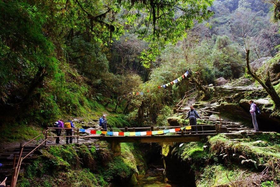 Подвесной мост в Непале