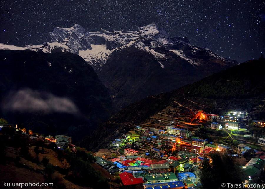 Намче-Базар ночью