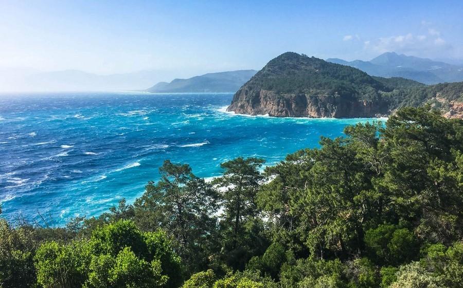 Цвет моря в Турции